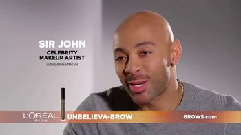 L'Oreal Paris Unbelieva-Brow TV Spot, 'Sparse Eyebrows' Featuring Becca Tilley, Sir John - Thumbnail 3