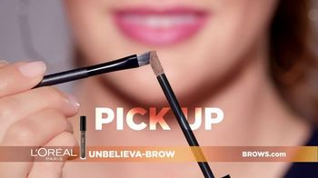 L'Oreal Paris Unbelieva-Brow TV Spot, 'Sparse Eyebrows' Featuring Becca Tilley, Sir John - Thumbnail 6