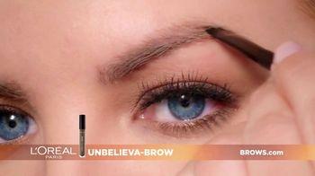 L'Oreal Paris Unbelieva-Brow TV Spot, 'Sparse Eyebrows' Featuring Becca Tilley, Sir John - Thumbnail 8