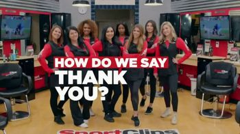 Sport Clips Instant Replay TV Spot, 'Thank You' - Thumbnail 2