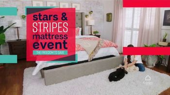 Ashley HomeStore Stars & Stripes Mattress Event TV Spot, '$300 Ashley Cash' Song by Midnight Riot