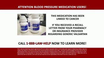 Kresch Legal Services TV Spot, 'Generic Valsartan Medication and Cancer' - Thumbnail 1