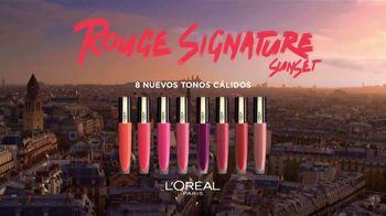 L'Oreal Paris Rouge Signature Sunset TV Spot, 'Más colores' [Spanish] - Thumbnail 4
