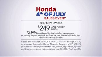 Honda 4th of July Sales Event TV Spot, '2019 CR-V: Ready for Adventure' [T2] - Thumbnail 9