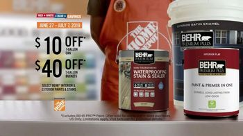 BEHR Paint Home Depot Red, White and Blue Savings TV Spot, 'Outdone Yourself' - Thumbnail 9