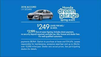 Honda Dream Garage Spring Event TV Spot, 'Big Deal' Feat. James Hinchcliffe [T2] - Thumbnail 9