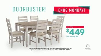 Ashley HomeStore Stars & Stripes Event TV Spot, 'Doorbusters: Dining Set' Song by Midnight Riot - Thumbnail 5