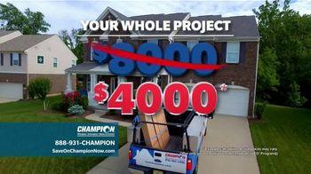 Champion Windows Best Sale of the Year TV Spot, '50 Percent Off' - Thumbnail 7