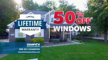 Champion Windows Best Sale of the Year TV Spot, '50 Percent Off' - Thumbnail 9