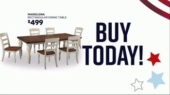 Ashley HomeStore Memorial Day Sale TV Spot, 'Summer's Hottest Deals: Dining Table and Sofa' Song by Midnight Riot - Thumbnail 3