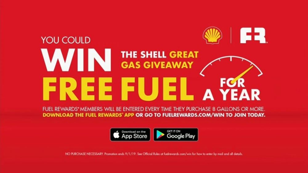 Shell Great Gas Giveaway TV Commercial, 'Free Fuel for a Year' - Video
