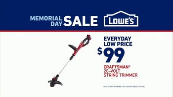 Lowe's Memorial Day Sale TV Spot, 'Show Your Yard Who's Boss: String Trimmer' - Thumbnail 8