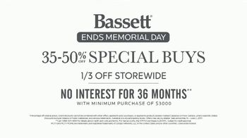 Bassett Memorial Day Sale TV Spot, 'The Weekend You've Been Waiting For: No Interest Financing' - Thumbnail 5