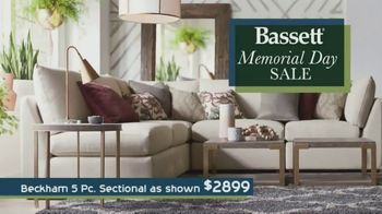 Bassett Memorial Day Sale TV Spot, 'The Weekend You've Been Waiting For: Sectionals & Beds' - Thumbnail 1