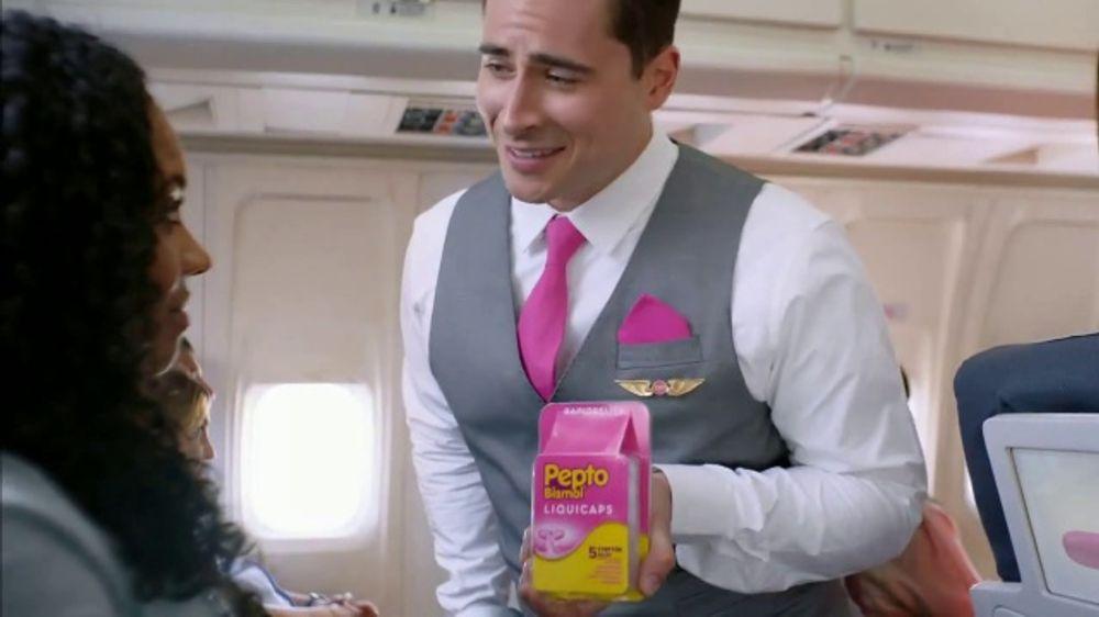 Pepto-Bismol Liquicaps TV Commercial, 'Stomach Noises' - Video