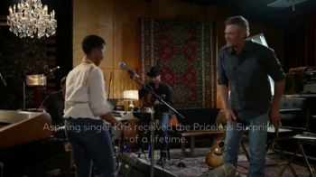 Mastercard TV Spot, 'NBC: The Voice: Kris & Her Priceless Surprise' Feat. Blake Shelton - 1 commercial airings