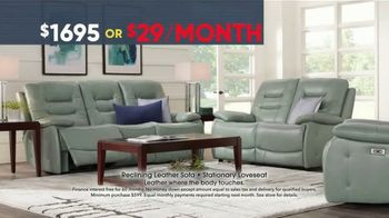 Rooms to Go Memorial Day Sale TV Spot, 'Reclining Leather Living Room' - Thumbnail 3