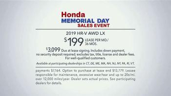 Honda Memorial Day Sales Event TV Spot, 'Visit Your Local Dealer: 2019 HR-V' [T2] - Thumbnail 6