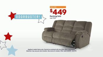 Ashley HomeStore Memorial Day Sale TV Spot, 'Four Days Only: Reclining Sofa' Song by Midnight Riot - Thumbnail 6