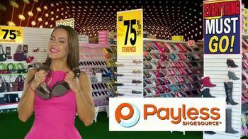 Payless Shoe Source Closing Sale TV Spot, 'Final Days: 75 Percent Off'