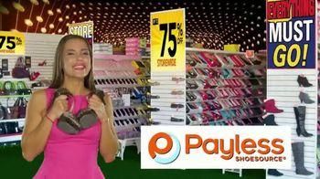 Payless Shoe Source Closing Sale TV Spot, 'Final Days: 75 Percent Off' - Thumbnail 6