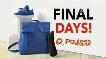 Payless Shoe Source Closing Sale TV Spot, 'Final Days: 75 Percent Off' - Thumbnail 1