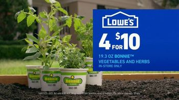Lowe's TV Spot, 'Summer Savings: Bonnie Vegetables and Herbs Plus Kingsford Charcoal' - Thumbnail 5