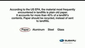 Subaru TV Spot, 'Recycling Tip: Paper' [T1] - Thumbnail 1