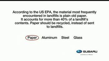 Subaru TV Spot, 'Recycling Tip: Paper' [T1] - Thumbnail 4