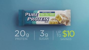 Pure Protein Birthday Cake TV Spot, 'Great Taste: $10' - Thumbnail 8