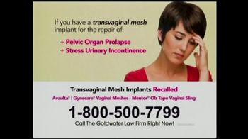 Goldwater Law Firm TV Spot, 'Transvaginal Mesh Implants' - Thumbnail 5