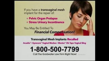 Goldwater Law Firm TV Spot, 'Transvaginal Mesh Implants' - Thumbnail 6