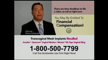 Goldwater Law Firm TV Spot, 'Transvaginal Mesh Implants' - Thumbnail 7