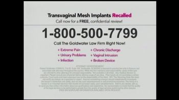 Goldwater Law Firm TV Spot, 'Transvaginal Mesh Implants' - Thumbnail 8