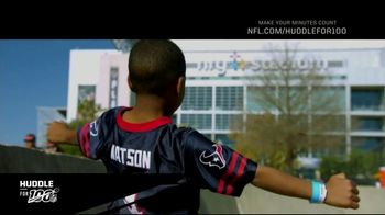 NFL TV Spot, 'Huddle For 100: Halfway There' Feat. Charles Tillman, Josh Jacobs, DeAndre Hopkins - Thumbnail 1
