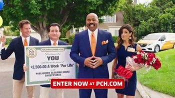 Publishers Clearing House TV Spot, '$2,500 a Week: Listen Folks' Featuring Steve Harvey - 74 commercial airings