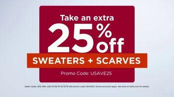 Kohl's TV Spot, '25 Percent Off Fall + Extra 20 Percent Off' - Thumbnail 4