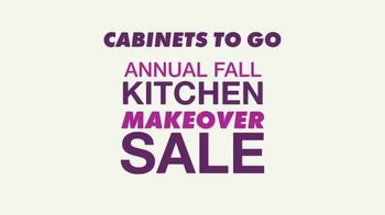 Cabinets To Go Annual Fall Kitchen Makeover Sale TV Spot, 'Ends Thursday' - Thumbnail 1