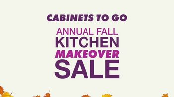 Cabinets To Go Annual Fall Kitchen Makeover Sale TV Spot, 'Ends Thursday'