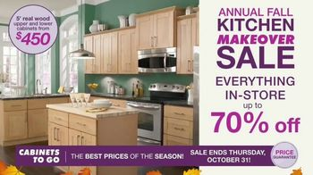 Cabinets To Go Annual Fall Kitchen Makeover Sale TV Spot, 'Ends Thursday' - Thumbnail 2