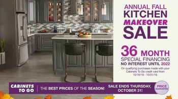Cabinets To Go Annual Fall Kitchen Makeover Sale TV Spot, 'Ends Thursday' - Thumbnail 4