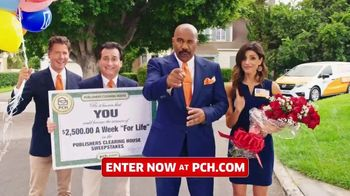 Publishers Clearing House TV Spot, \'$2,500 a Week: Hey Folks\' Featuring Steve Harvey