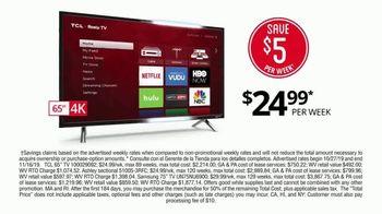 Rent-A-Center Pre-Black Friday Sale TV Spot, '4K TV, Ashley HomeStore Sofa' - Thumbnail 3