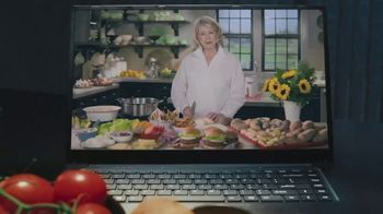 Postmates TV Spot, 'Burger and Fries: Delivery Credit' Featuring Martha Stewart - Thumbnail 1