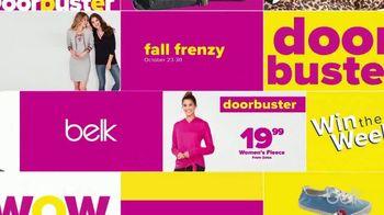 Belk Fall Frenzy TV Spot, 'Win the Weekend' - Thumbnail 1