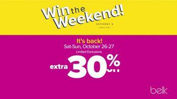 Belk Fall Frenzy TV Spot, 'Win the Weekend' - Thumbnail 2