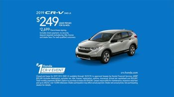 Honda Number One CR-V Event TV Spot, 'All Walks of Life' [T2] - 191 commercial airings