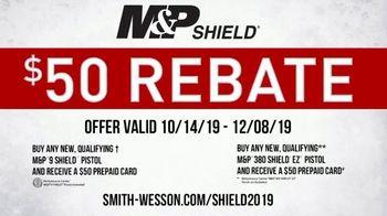 Smith & Wesson M&P Shield TV Spot, '$50 Rebate'