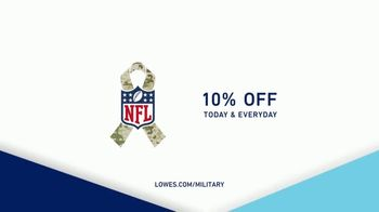 Lowe's TV Spot, 'Military Discount' - 1418 commercial airings