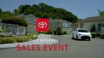 Toyota Certified Used Vehicles Sales Event TV Spot, 'Best Resale Value' [T2] - Thumbnail 9